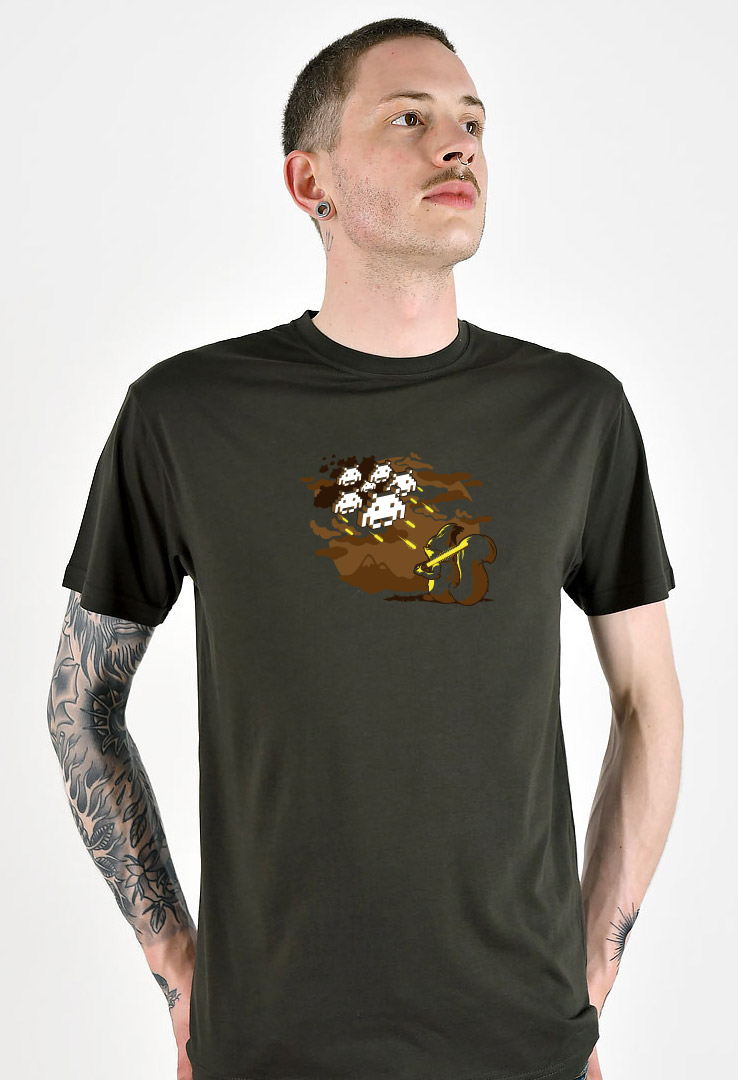 T-Shirt Squirrel Invader