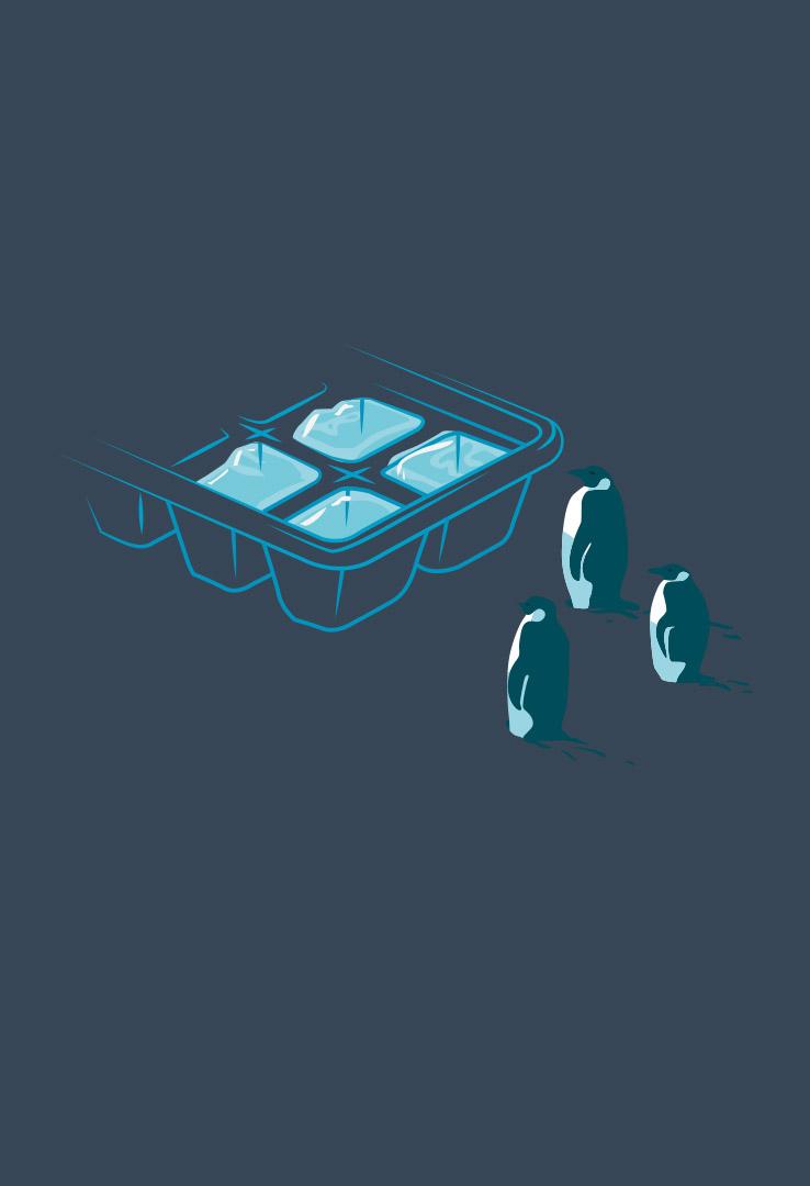T-Shirt Pinguin Exil – Bild 2