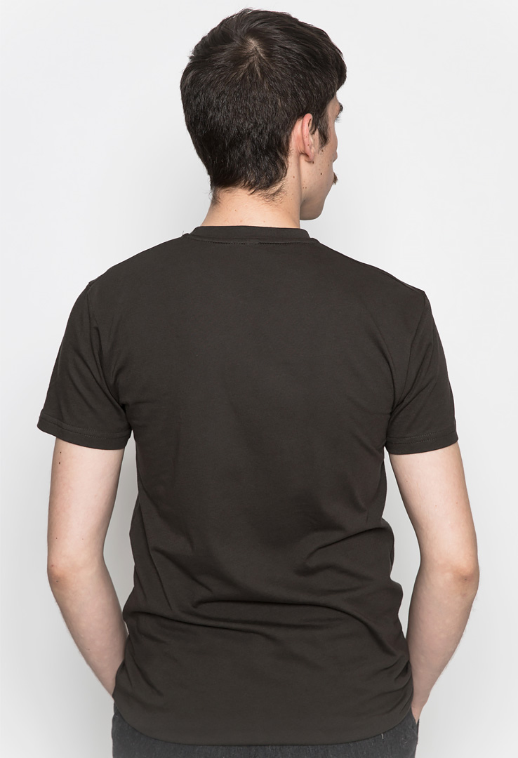 Basic T-Shirt dark chocolate – Bild 2