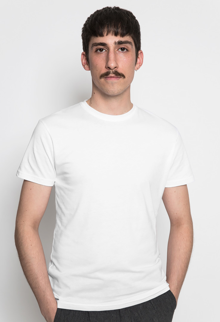 Basic T-Shirt white – Bild 1