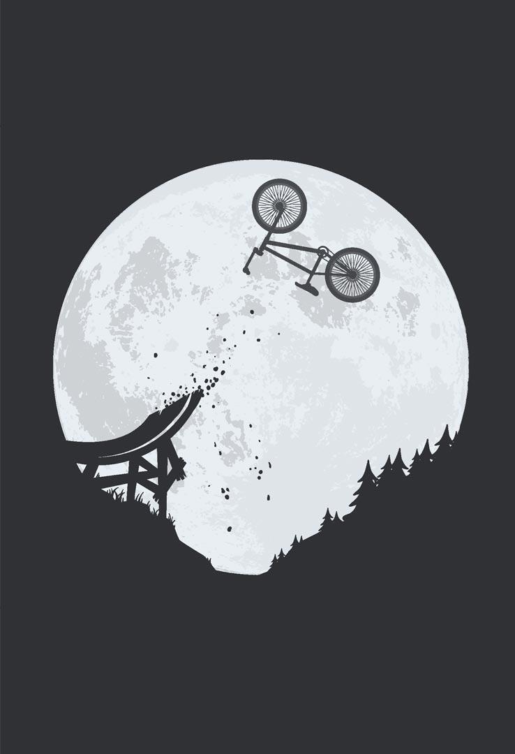 T-Shirt BMX Sturzflug – Bild 2