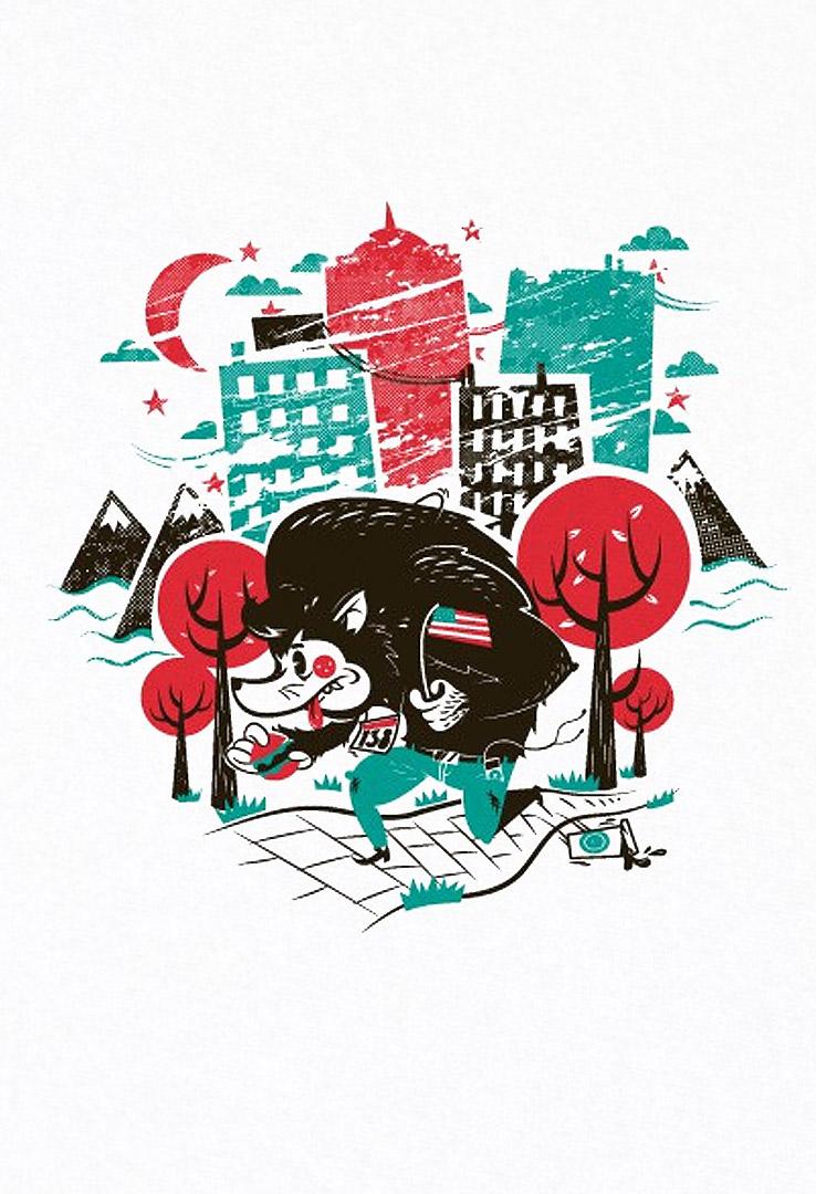 T-Shirt American Werewolf – Bild 2