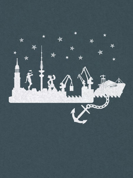 T-Shirt Hamburg Skyline – Bild 1