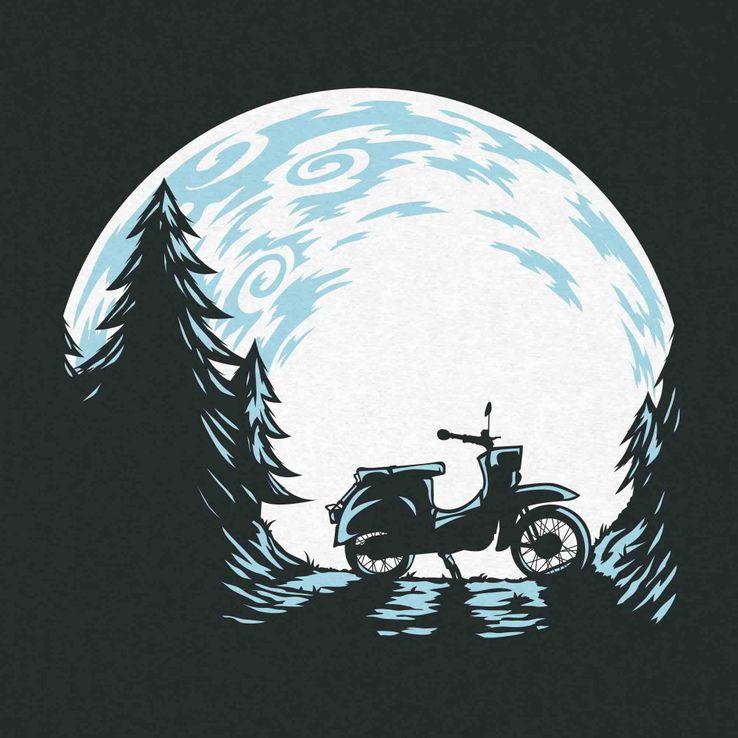 Tailliertes Girlie T-Shirt mit Print Schwalbennacht – Bild 2