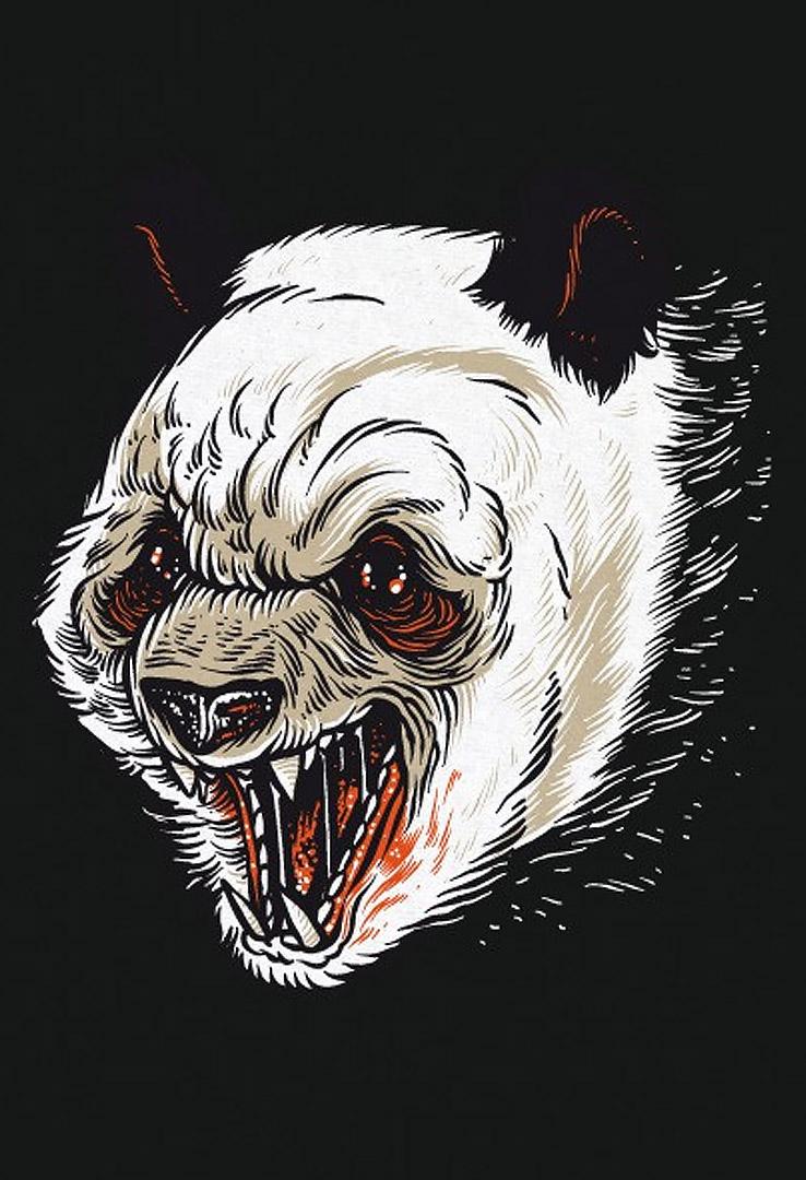 Print T-Shirt Killer Panda – Bild 3