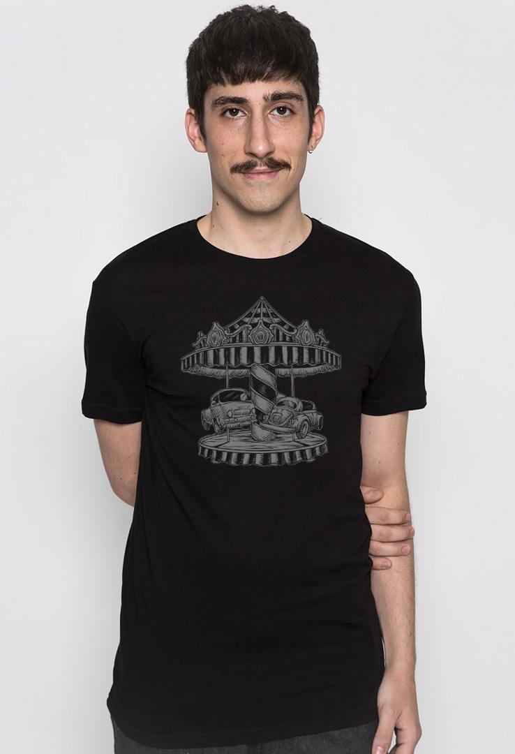 T-Shirt Auto Karussell – Bild 1