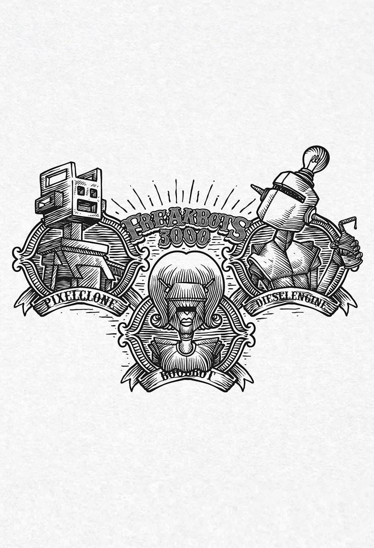 T-Shirt Freak Bots – Bild 2