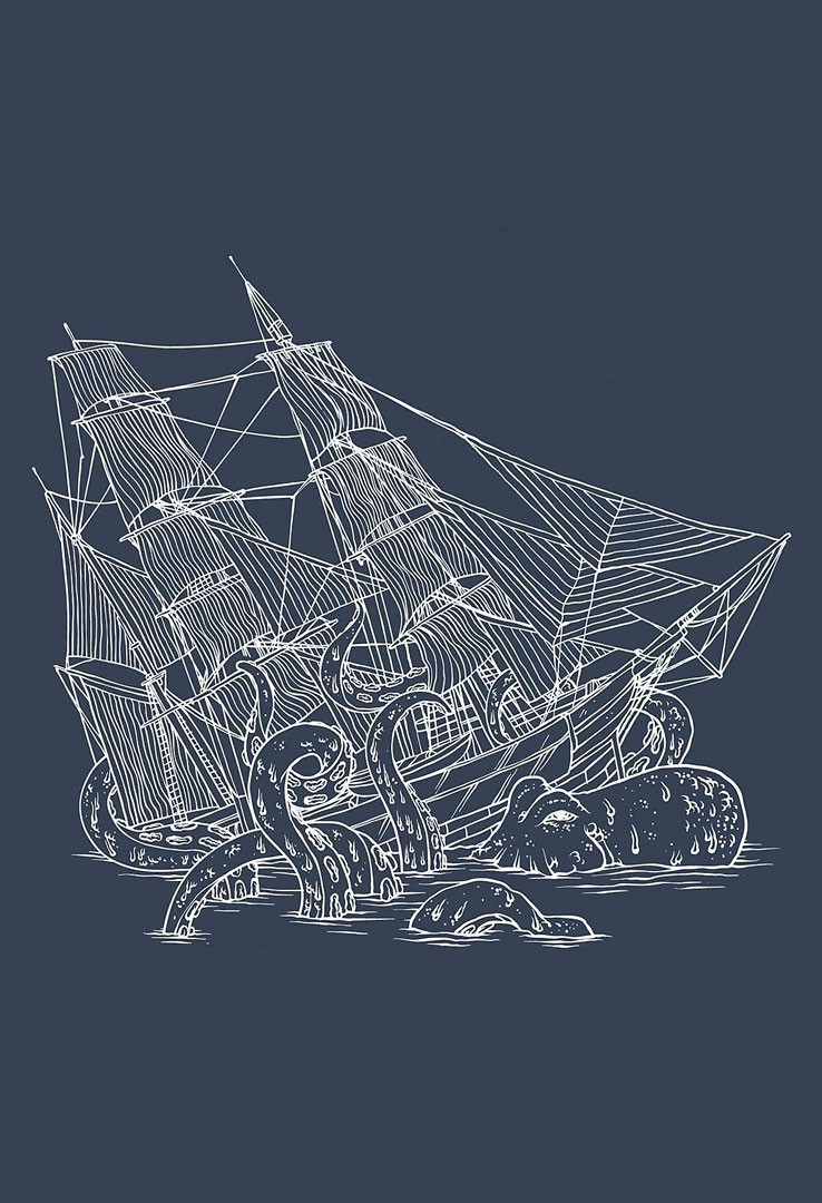 T-Shirt Piraten Kraken – Bild 2