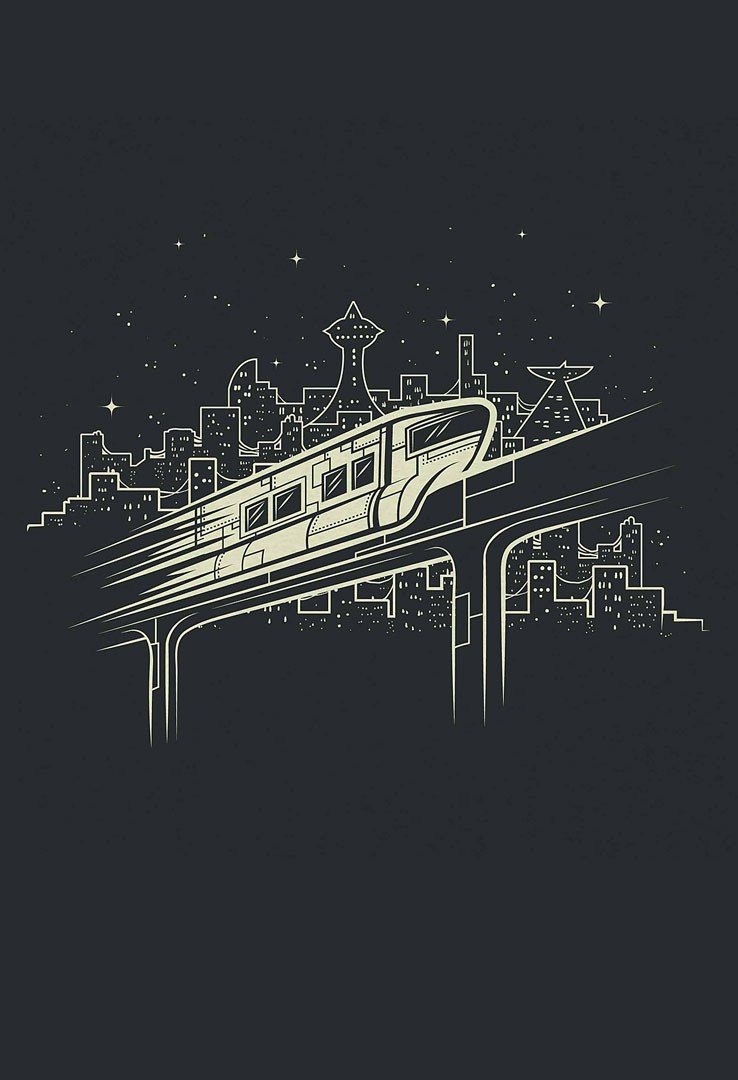T-Shirt Monorail – Bild 1
