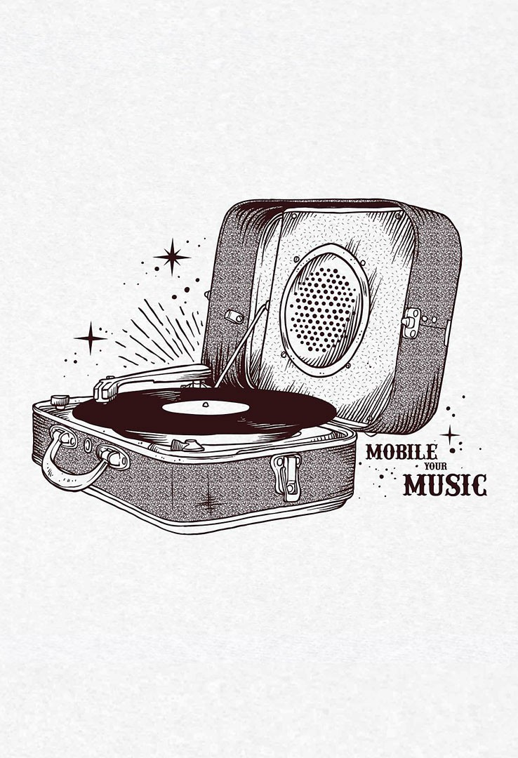 T-Shirt Mobile your music
