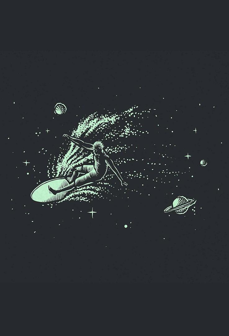 T-Shirt Space Surfer