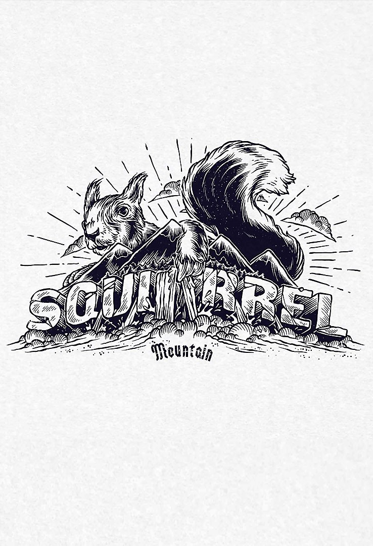 T-Shirt Squirrel Mountain
