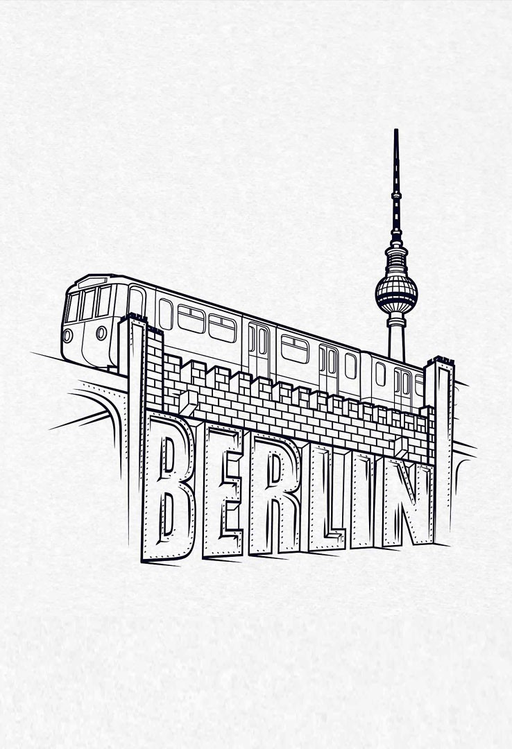 T-Shirt UBahn Berlin