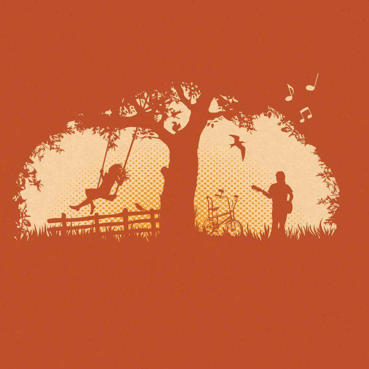 tailliertes Girlie - T - Shirt mit Print 479- 34 Idyllicious – Bild 2