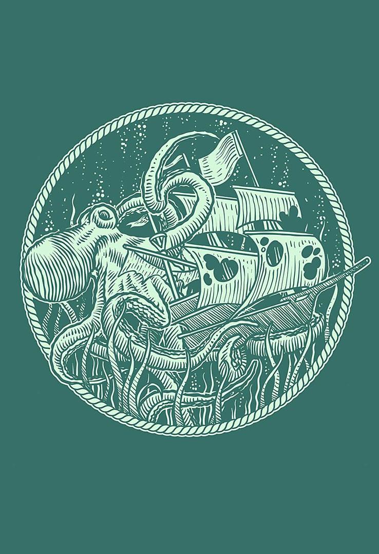 T-Shirt Kraken – Bild 2