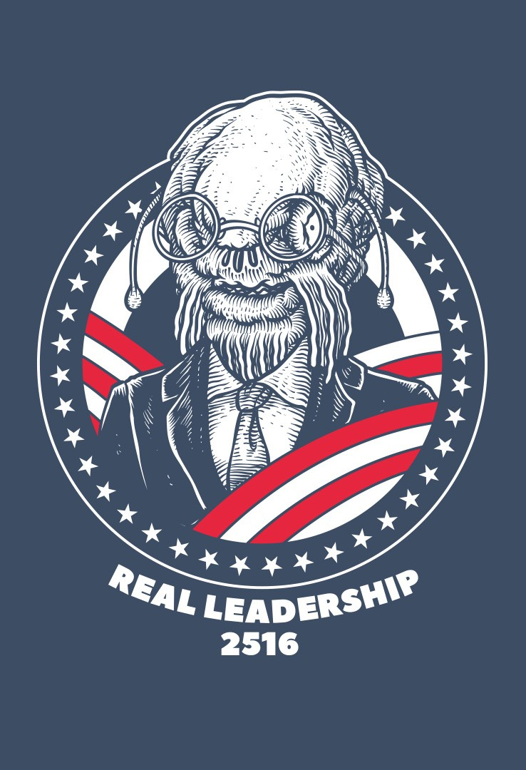T-Shirt Vote Real Leadership – Bild 2