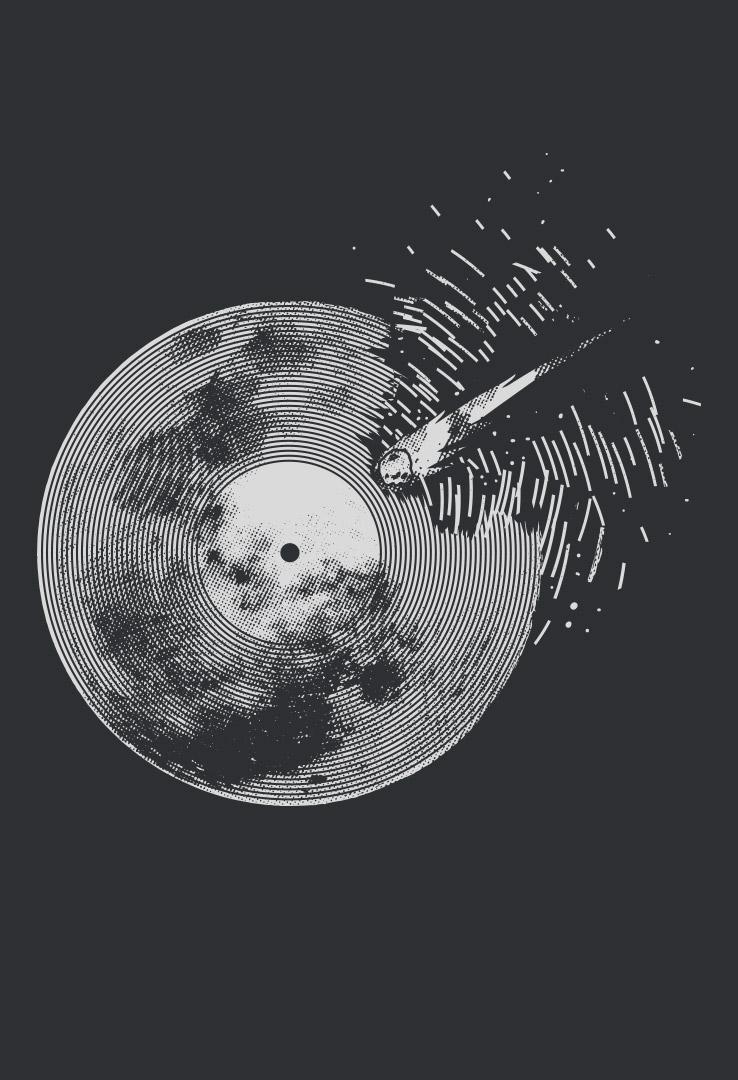 T-Shirt  Vinyl Asteroid – Bild 3