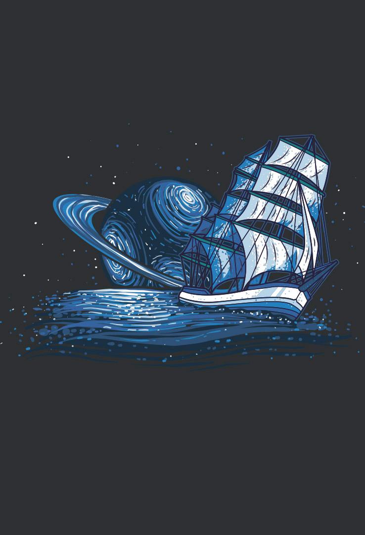 T-Shirt Saturn Segler – Bild 4