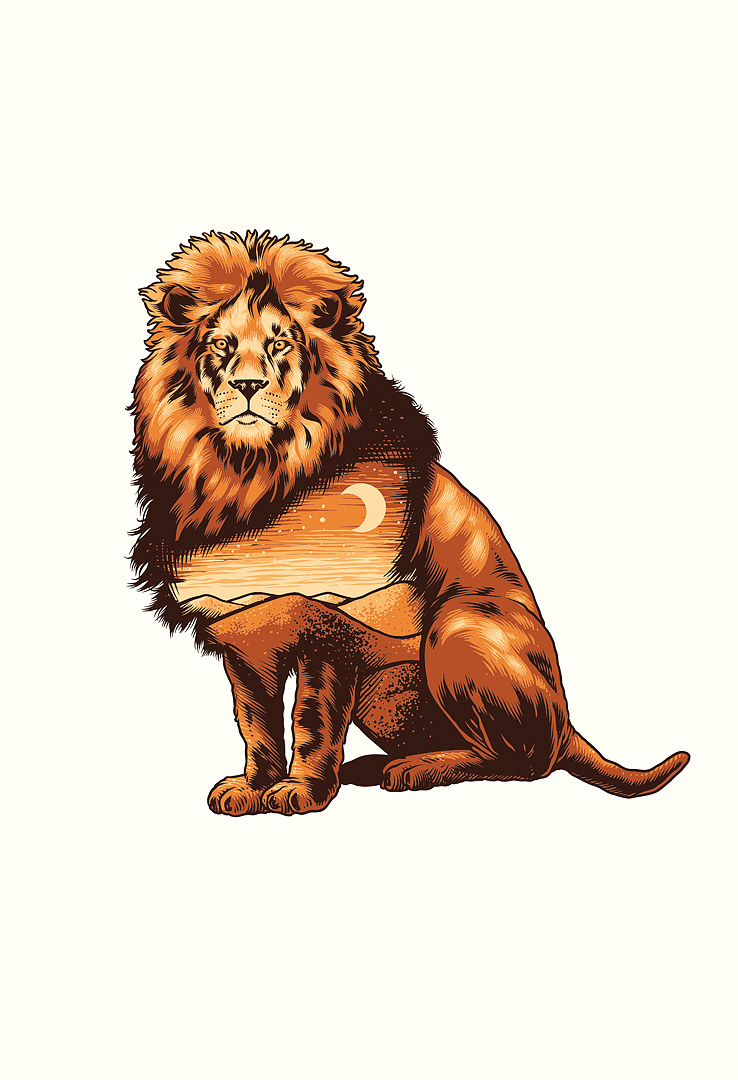 T-Shirt Nature Lion – Bild 1