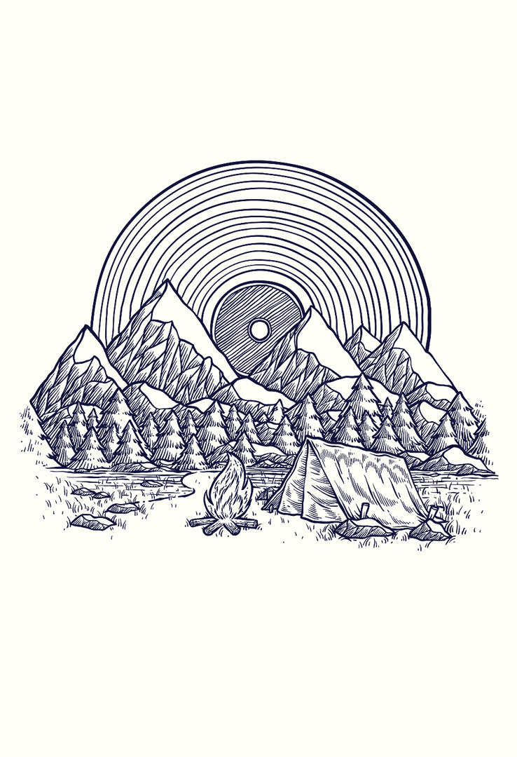 T-Shirt Vinyl Mountain – Bild 1