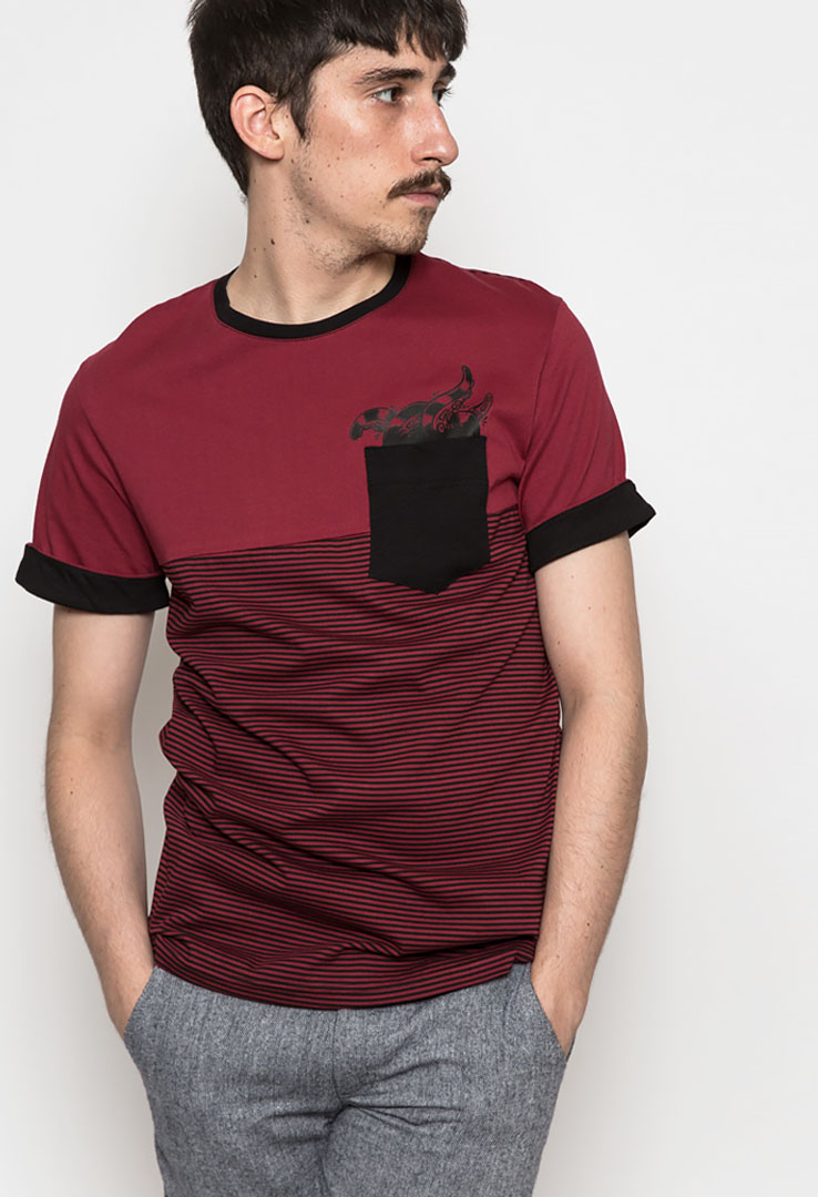 Krake T-Shirt Bordeaux