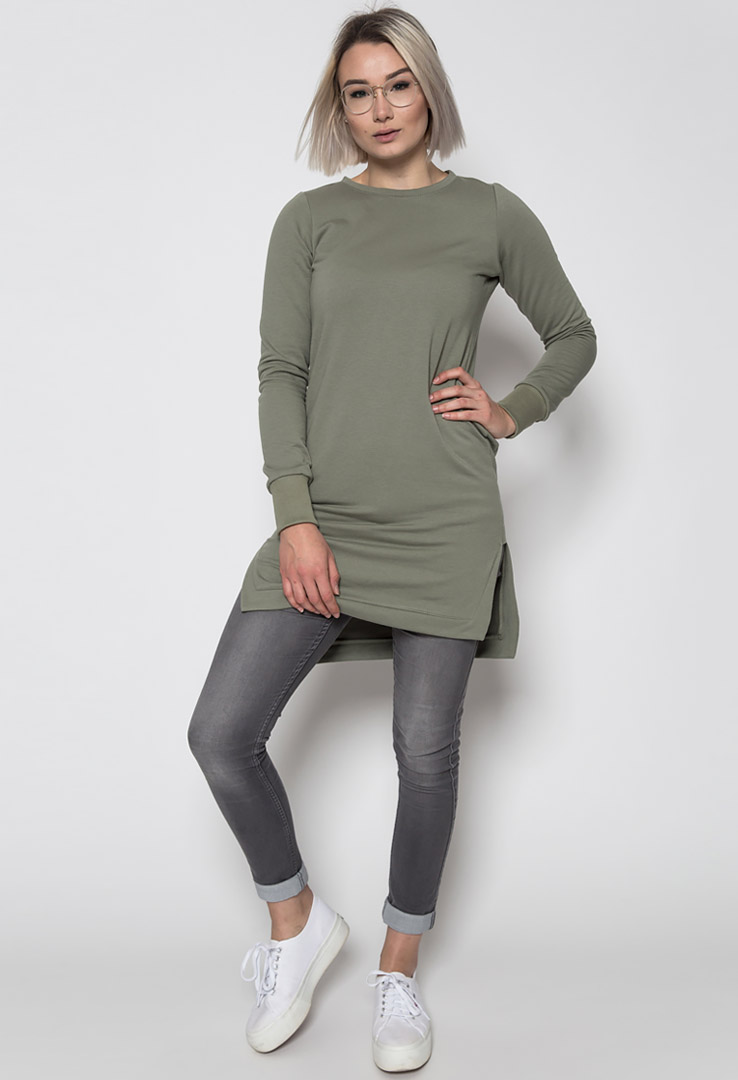 Sweater Oliv – Bild 2