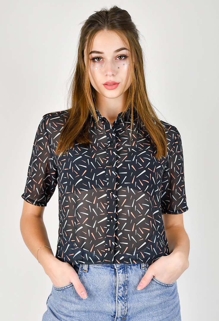 Catgang Bluse mit Print