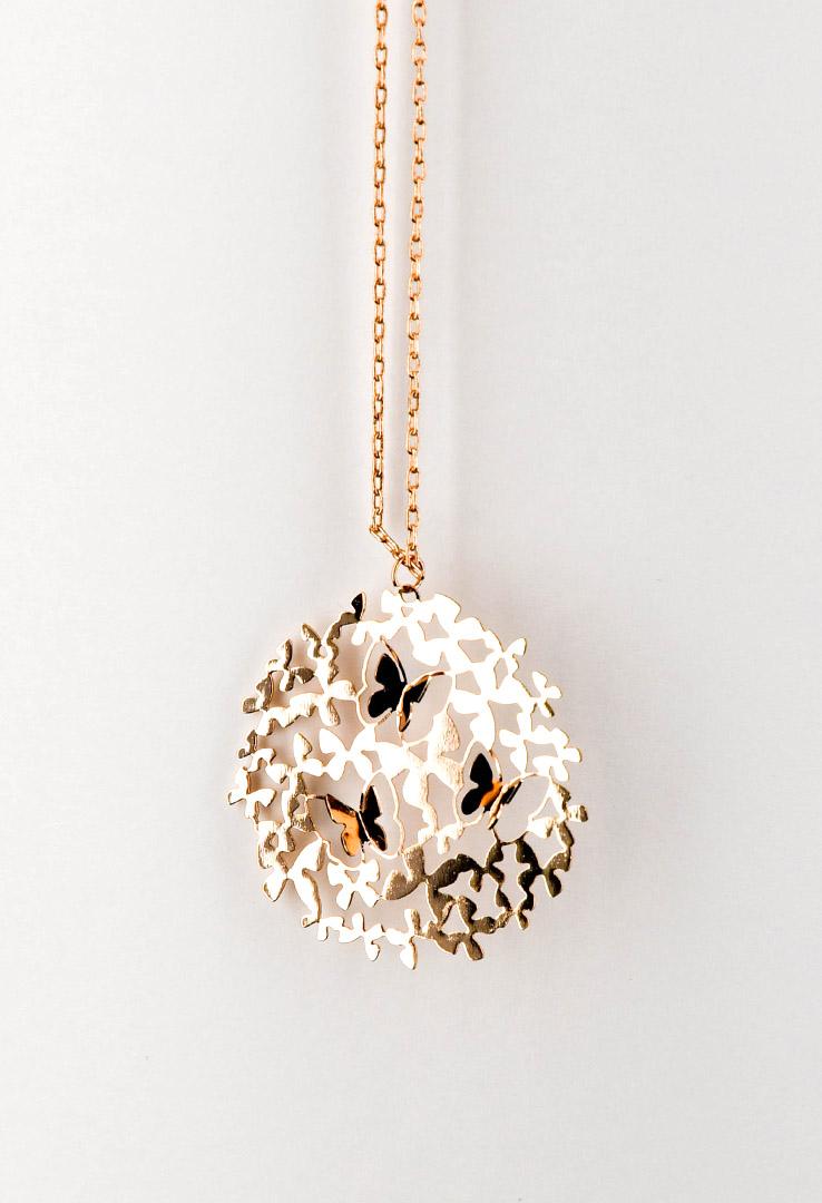 Halskette in 3D Rosé-Gold – Bild 2