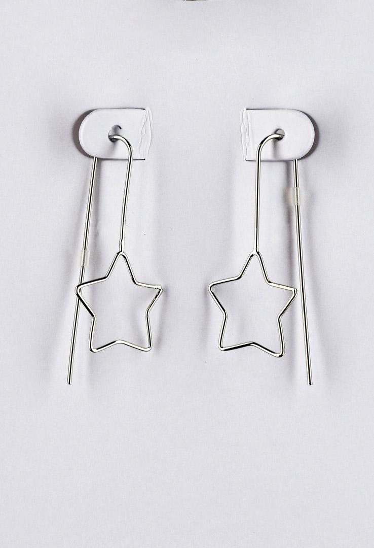 Stern-Ohrringe in Silber – Bild 2