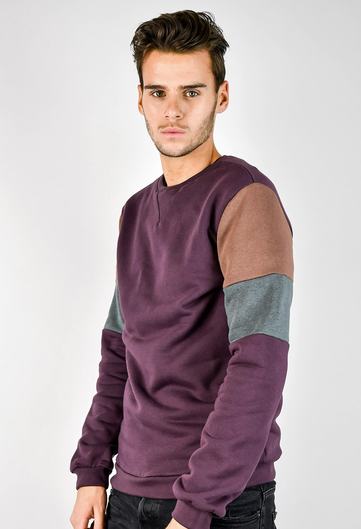 Sweatshirt Bordeaux – Bild 1