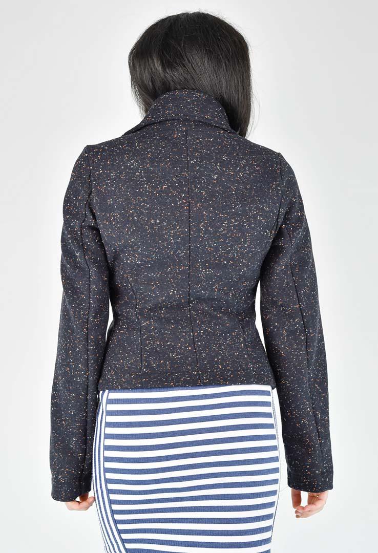 Lässige Jacke in dunkelblau – Bild 4