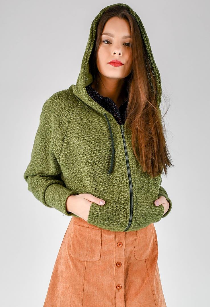 Sweatshirt Grass Green – Bild 3