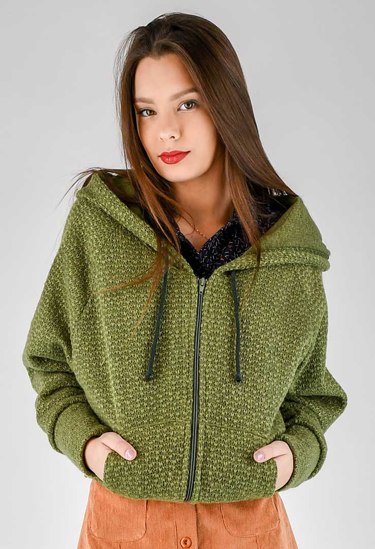 Sweatshirt Grass Green – Bild 2