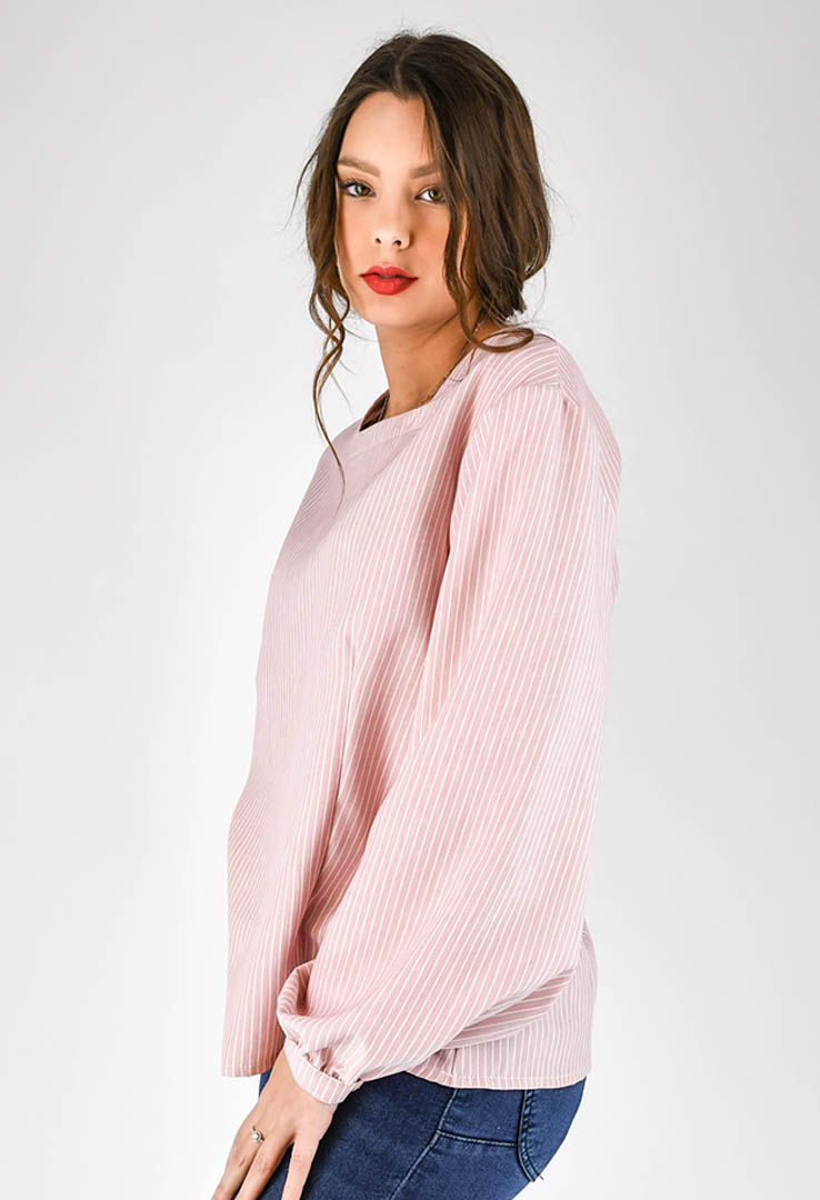 romantische Bluse in rose – Bild 2