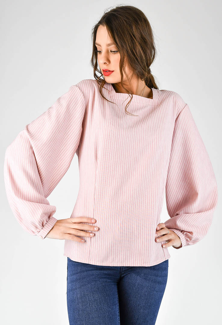 romantische Bluse in rose – Bild 1