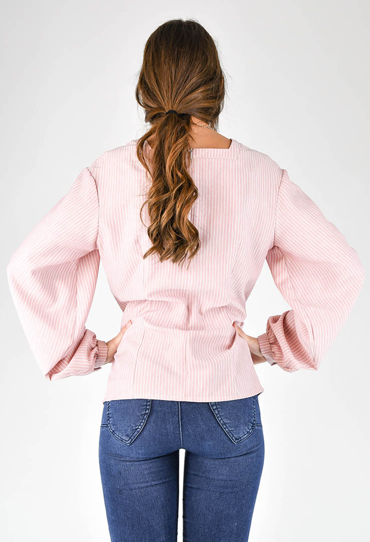 romantische Bluse in rose – Bild 3