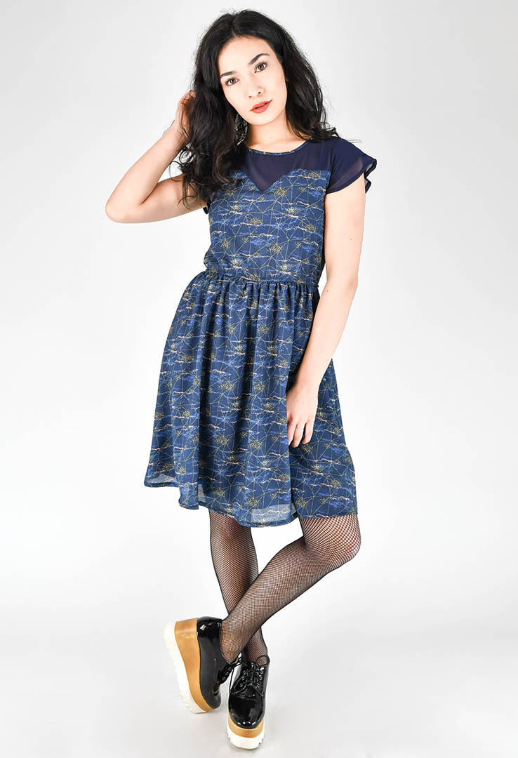 sommerliche Kleid in Navy