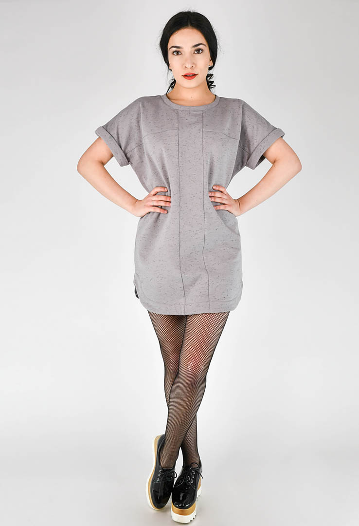 T-Shirt-Kleid Sport Grey