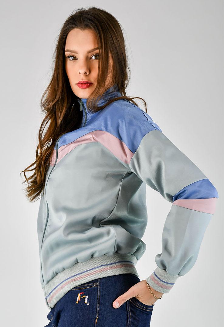 sportliche Zip-Jacke  in Pastell – Bild 3