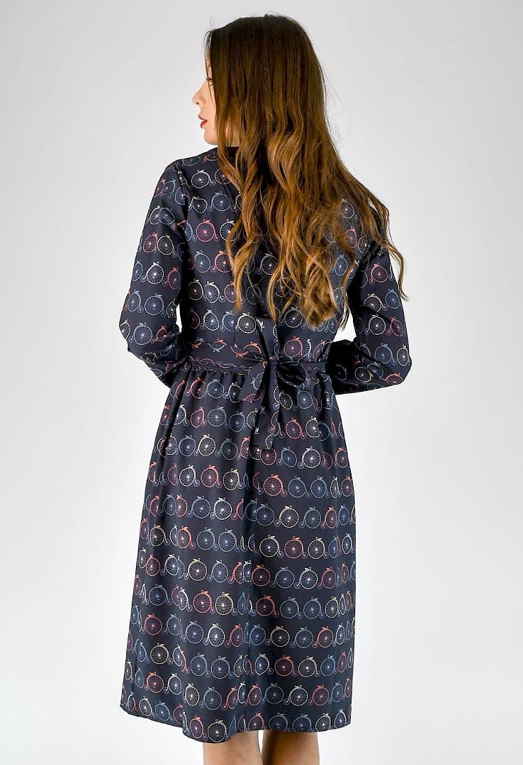 Kleid mit Fahrrdaprint – Bild 4