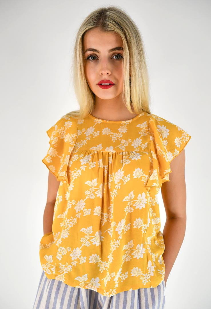Bluse Sun Yellow – Bild 1