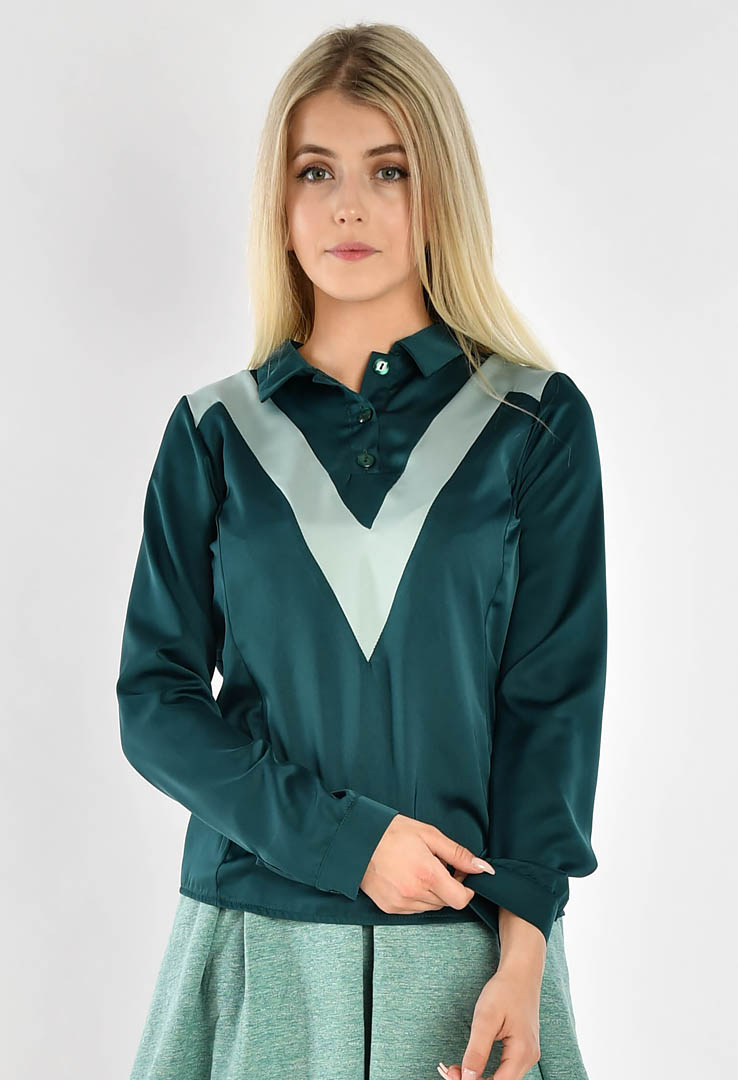 Bluse Bottle Green – Bild 3