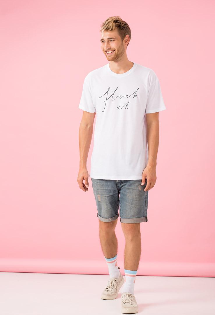 """Flock it"" T-shirt Weiß"