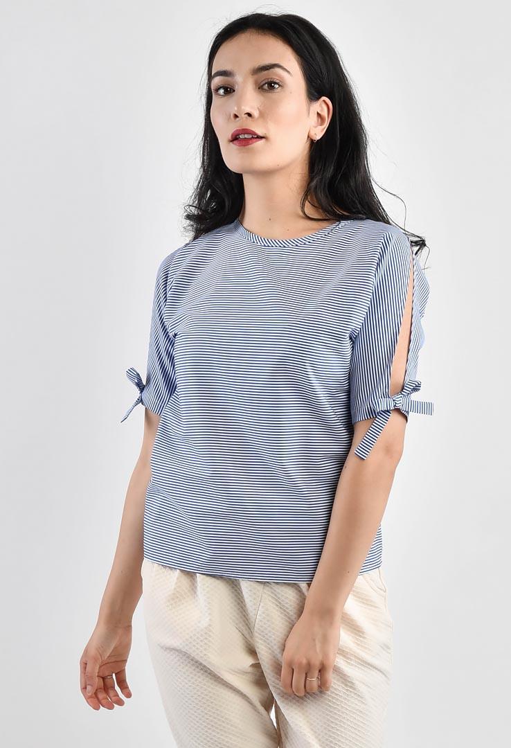 Streifenshirt Blau – Bild 1