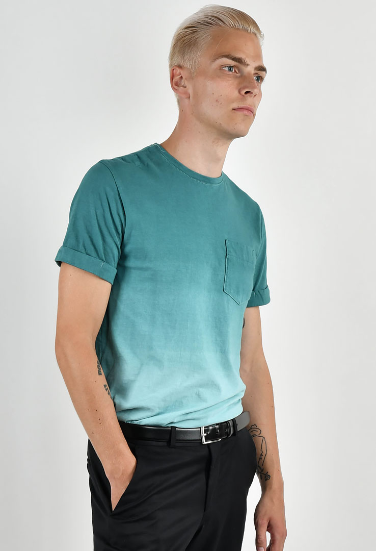 T-Shirt Green Blue Slate – Bild 2
