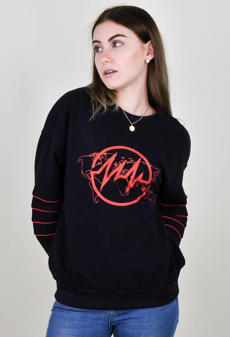 schwarzer Sweater mit Logoprint – Bild 2