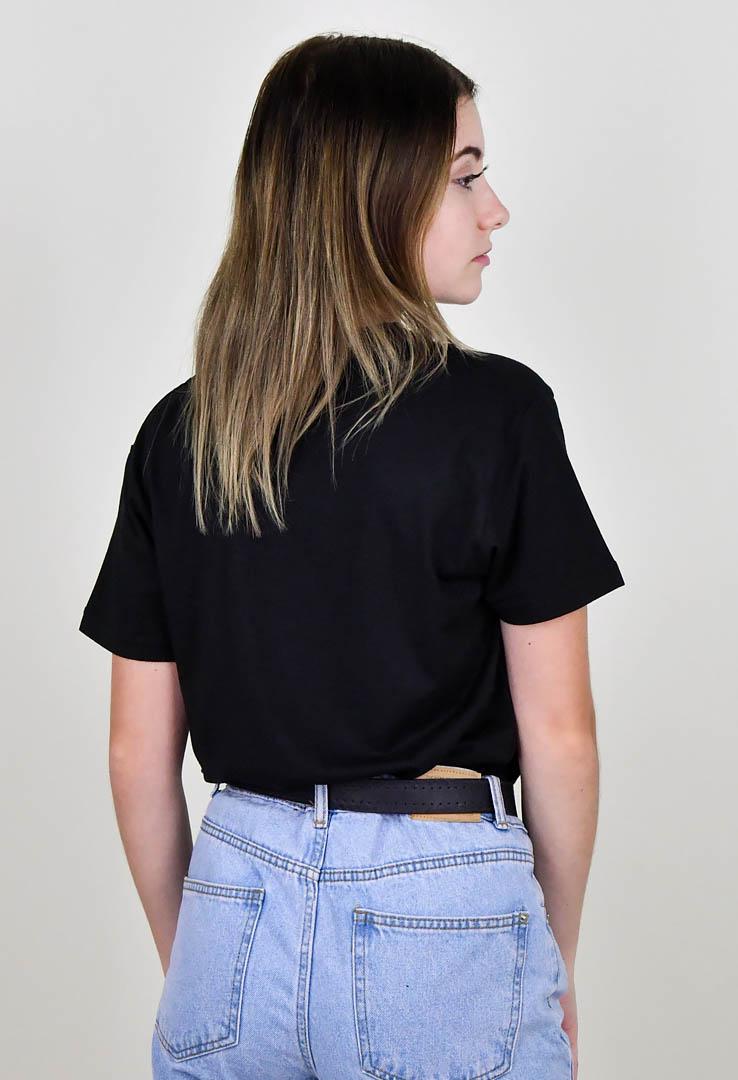 """schwarzes T-Shirt mit Print """"Universe"""" – Bild 4"""
