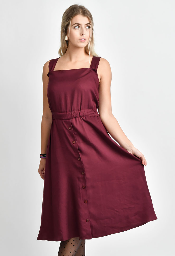 Kleid Wine Red