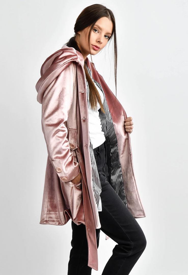 Mantel mit großer Kapuze  – Bild 3