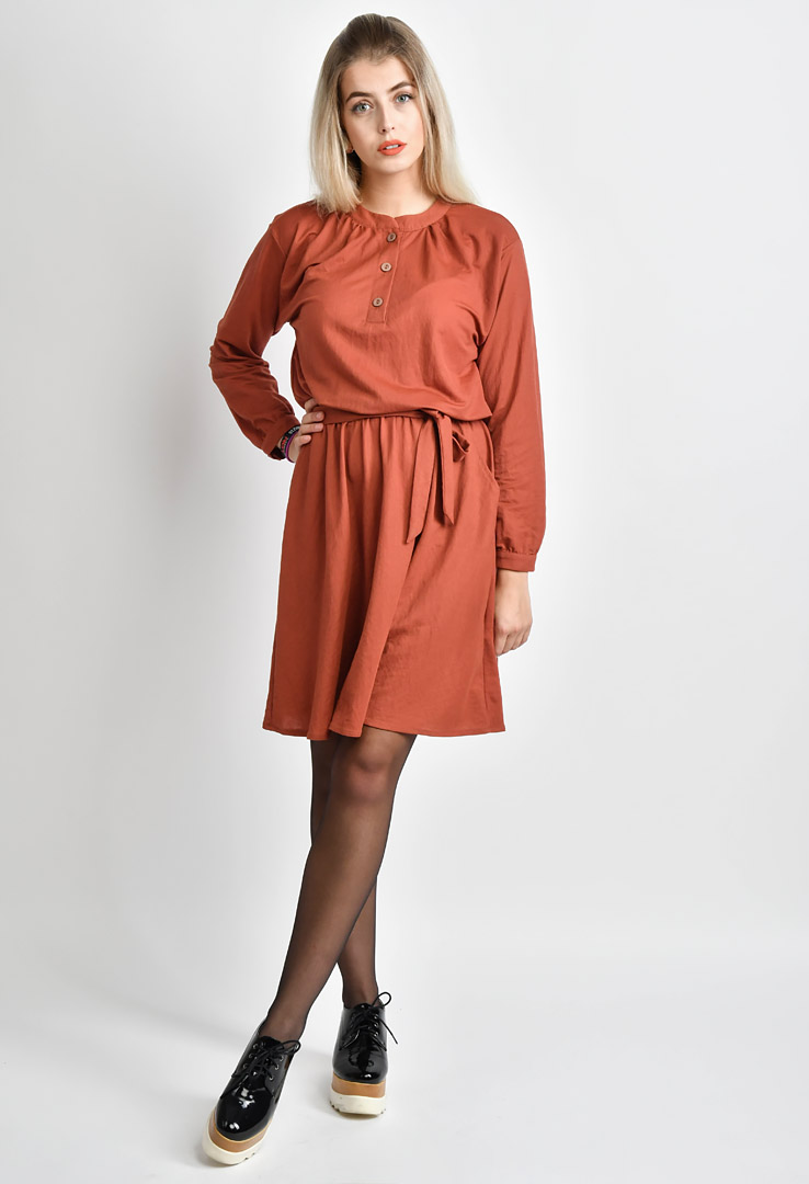 Kleid Peat Brown – Bild 2